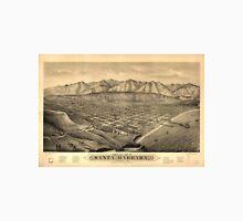 Vintage Pictorial Map of Santa Barbara CA (1877) Unisex T-Shirt