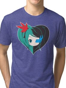 Two Love in one Tri-blend T-Shirt