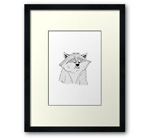 Meeko Stuffing His Face Framed Print