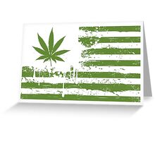 Distressed Flag - Weed Greeting Card