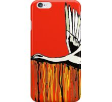 Flight of the Egret Red iPhone Case/Skin