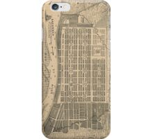 Vintage Map of Savannah Georgia (1818) iPhone Case/Skin