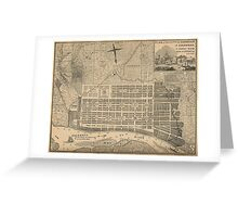 Vintage Map of Savannah Georgia (1818) Greeting Card