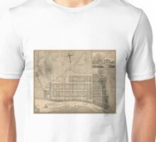 Vintage Map of Savannah Georgia (1818) Unisex T-Shirt