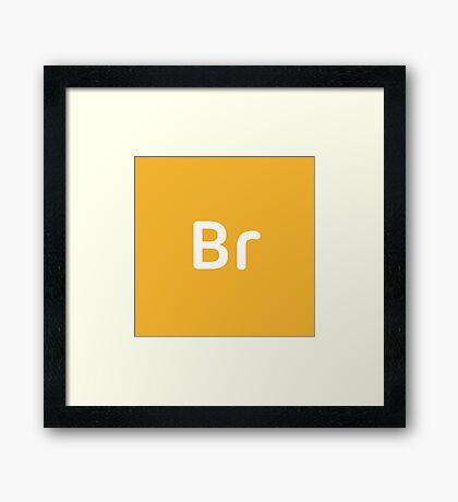 Adobe Bridge CC Square Framed Print