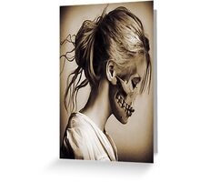 Vintage Skull Lady Greeting Card
