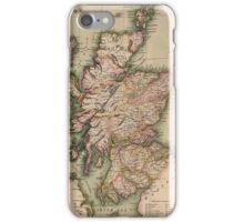Vintage Map of Scotland (1814)  iPhone Case/Skin