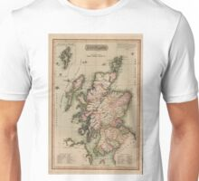 Vintage Map of Scotland (1814)  Unisex T-Shirt