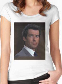 Pierce Brosnan - James Bond 007 Women's Fitted Scoop T-Shirt