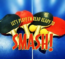 Ready to Smash Pingpong Bats Table Tennis Paddles Rackets by Beverly Claire Kaiya