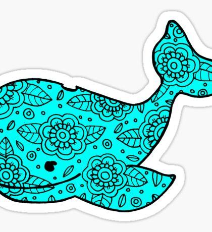 whale ii blue Sticker