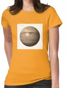 Wooden Globe Womens Fitted T-Shirt