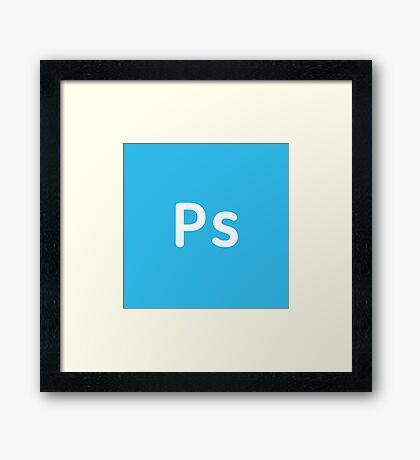 Adobe Photoshop CC Square Framed Print