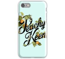 Peachy Keen : Mint iPhone Case/Skin