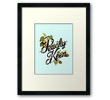 Peachy Keen : Mint Framed Print