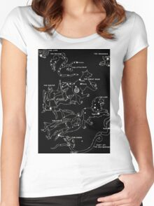 1920's Spring Constellation  Women's Fitted Scoop T-Shirt