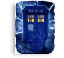 Blue Police Public Call Box  Canvas Print