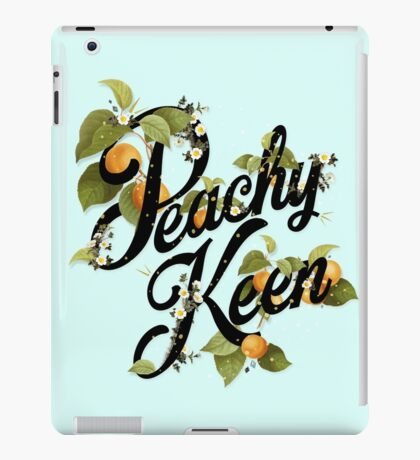 Peachy Keen : Mint iPad Case/Skin