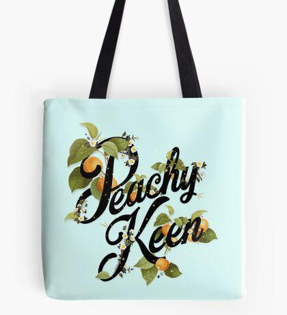 Peachy Keen : Mint Tote Bag