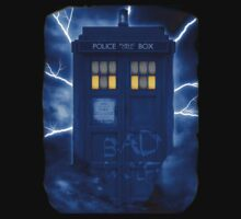 Blue Police Public Call Box  by funandhappy