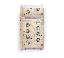 Theatre Styles Infographic Poster Duvet Cover