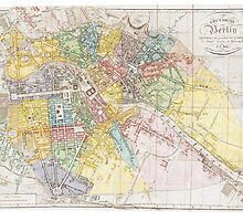 Vintage Map of Berlin (1846) by BravuraMedia