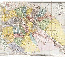 Vintage Map of Berlin (1846) by BravuraMedia