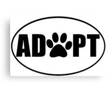 ADOPT pet sticker Canvas Print
