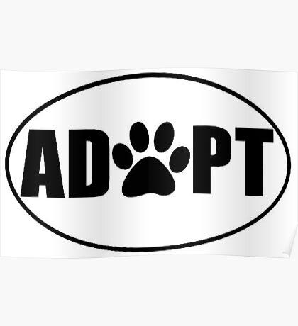 ADOPT pet sticker Poster