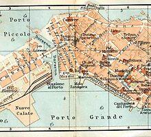 Vintage Map of Syracuse Italy (1905) by BravuraMedia