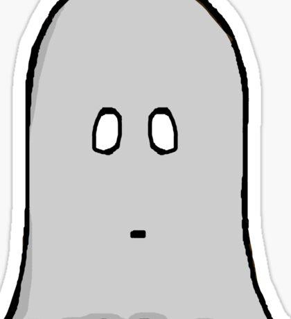 Grey Spooky Ghost  Sticker