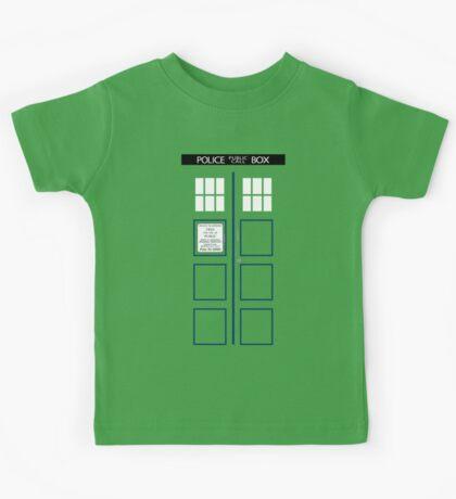 Kid's TARDIS T-shirt Kids Tee