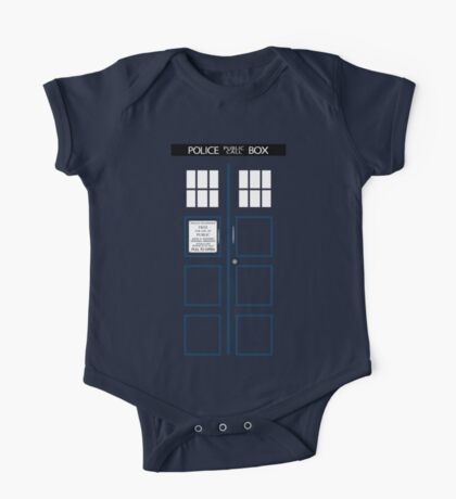 Kid's TARDIS T-shirt One Piece - Short Sleeve