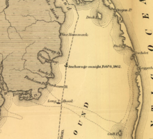 Vintage Map of The Outer Banks (1862) Sticker