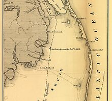 Vintage Map of The Outer Banks (1862) by BravuraMedia