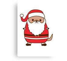 Cute Christmas Santa Pupsheen Canvas Print