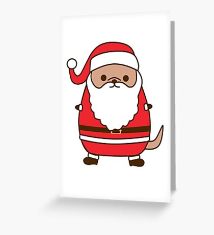 Cute Christmas Santa Pupsheen Greeting Card