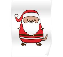 Cute Christmas Santa Pupsheen Poster