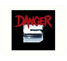 DANGER 5 SERIES 2 EMBLEM Art Print