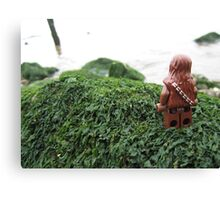 Lego Chewbacca at the beach Canvas Print