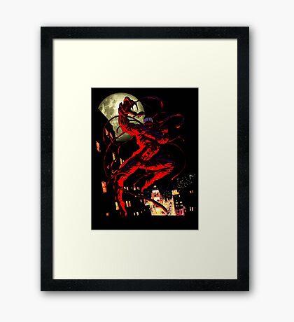 Carnage (black background) Framed Print