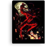 Carnage (black background) Canvas Print