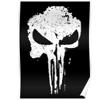 Punisher Grunge Skull Poster