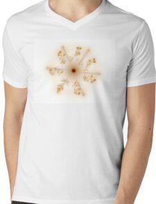 Fractal 30 brown star Mens V-Neck T-Shirt