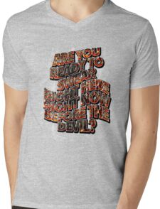 DEVIL BARGAIN - embers and smoke Mens V-Neck T-Shirt
