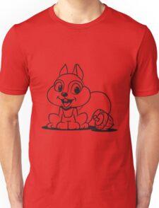 Eichhörmchen süss nuss  Unisex T-Shirt