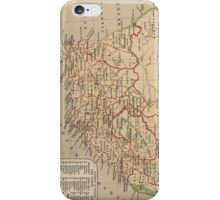 Vintage Map of South Africa (1880) iPhone Case/Skin