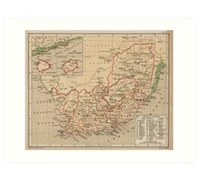 Vintage Map of South Africa (1880) Art Print
