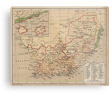 Vintage Map of South Africa (1880) Metal Print