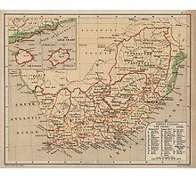 Vintage Map of South Africa (1880) Photographic Print